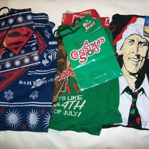 Bundle of 5 Christmas Holiday Mens Boxers Small S